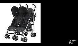 Double stroller in Near new con $100 or will swap for