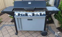 Four burner Down Under bbq WITHOUT gas cylinder with