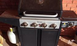 Downunder 4 burner BBQ with wok burner and cover. Full