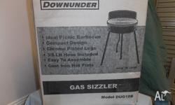 Downunder Gas Sizzler Barbecue. Brand new, never used