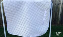 ROMA FULL SIZE WHITE DRESSAGE CLOTH Has been used but