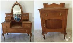 Beautiful antique, early Australian, blackbutt dressing