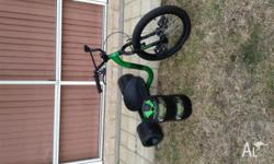 Drift Trike with Green Machine wheels. In great
