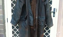 Oilskin long jacket for outdoor use, good condition,