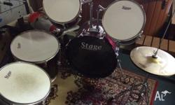 7 peice drum kit. Great condition, all intact except