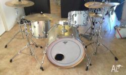 This drum kit has been used for studio and live