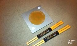Drum practice pad and 2 sets of New Jim Kilpatric