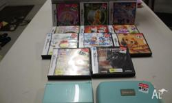 Blue DS Lite Console with Charger, Case and 11 Games.