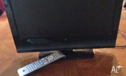 18 inch LCD tv Built in DVD player Comes with remote