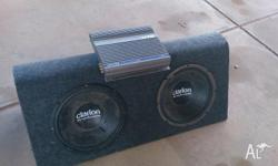 Alpine amp, dual sub for sale, both are in great