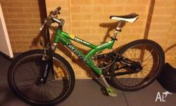 Duel Suspension Mountain Bike - GIANT Condition is fine