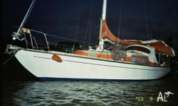 Good condition ready to sail, 18hp nanni diesel motor,