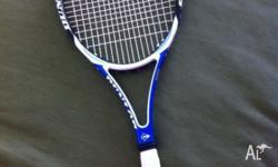 For sale is a DUNLOP Aerogel 2hundred tennis racquet.