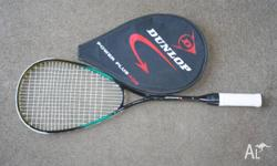 Dunlop graphite squash racquet with cover. In good