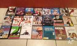 22 DVDs, comedy, kids, tv series, chick flicks. All