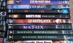 47 dvd movies all original and good condition see