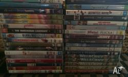 Selling DVDs for $2 each and $5 for tv shows. Get in
