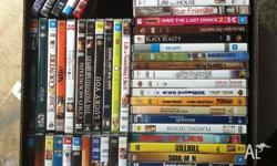 230 DVDs in good condition all good titles. $2 each or
