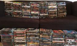 Hundreds of DVDs $2 each, 3 for $5 or 7 for $10 All