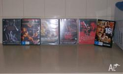 im selling six dvds for sale.one is freddy versus