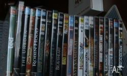 20 mixed dvds $30 10 playstation 2 games $30 3 blue ray