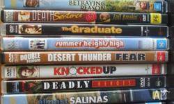 Have 15 assorted dvds for sale - under $1- each dvd
