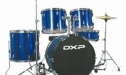 DXP Drum Kit 1.5 Years old Blue New symbol included