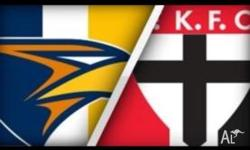 4x tickets to West Coast Eagle v St Kilda for the 2nd