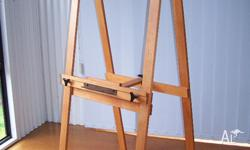 NOW REDUCED A- frame hinged studio easel;particularly