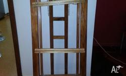 Artists easel hand made from pine and varnished, very