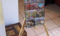 Easel + Paints * Easle, near new. Comes in a box (box