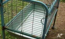 Rabbit/Ferret/Guinea pig cage on wheels removable tray