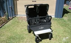 Easywalker Duo double pram stroller. This is a