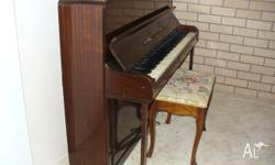 1950�s Eavestaff compact iron framed piano. 1080 high,