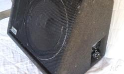 Ebony powered monitor fold back wedge speaker. 10""