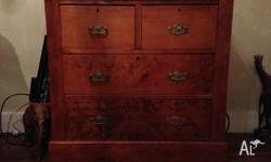 4 draw Edwardian pine chest of drawers 1910's Great