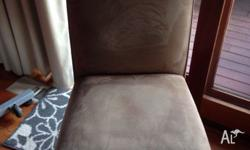 Eight dining chairs in very good condition. Macro suede