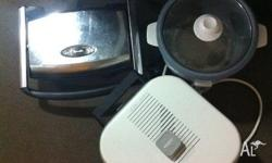 Electric frypan Flat toaster Rice cooker All work.