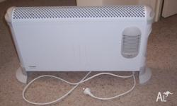 free standing electric heater with fan can be mounted