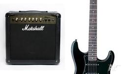 Humbucker Rocket 6 string electric guitar with Marshall