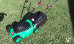 Little electric mower 240 volt. Works a treat. I have