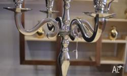ELEGANT SILVER CANDELABRA (FIVE ARM) BRAND NEW This