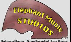 - Rehearsal Studios for all types of musicians, music