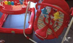 Elmo baby walker and swing. We're only used once or