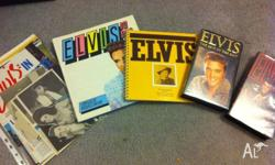 Elvis Presley goodies.... two books, two videos and