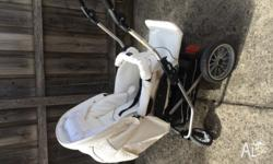 RRP: 1,800. Great condition! This white leatheret pram