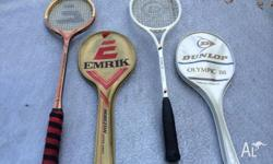 Selling both Emrik & Dunlop Squash Racquets. Buy