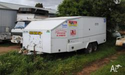 for sale enclosed tandem car trailer to suit a late