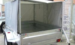 7x5 CAGE TRAILER FULLY GALVANISED WITH COVER, FULLY