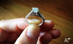 Stunning white gold engagement ring never worn. The